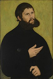 """Martin Luther als """"Junker Jörg"""". Lucas Cranach der Ältere, 1522 (Quelle: Wikimedia)"""
