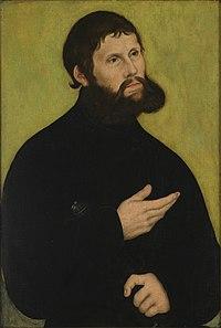 """Luther als """"Junker Jörg"""". Lucas Cranach der Ältere, 1522 (Quelle: Wikimedia)"""