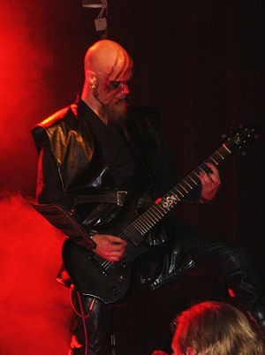 Battlelore -  The guitarist Jyri Vahvanen playing live at Tuska Open Air Metal Festival, Helsinki in June 2008