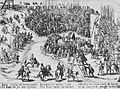 Köln - Melaten Enthauptung des Hieronymus Michaelis, Franz Hogenberg 1588, RBA.jpg