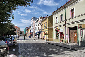 Kąty Wrocławskie - Fragment of the town square