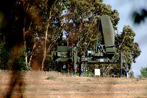 The radar of the Iron Dome CRAM system