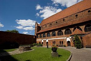 KOS północne skrzydło zamku w Olsztynie