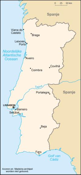 portugal streken kaart
