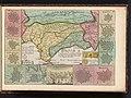 Kaart van Andalusië met de zeeslag bij Malaga, 1704 Kaart van Andalusien, en Granade Royaume d'Andalousie et de Grenade (titel op object), BI-B-FM-090-60.jpg