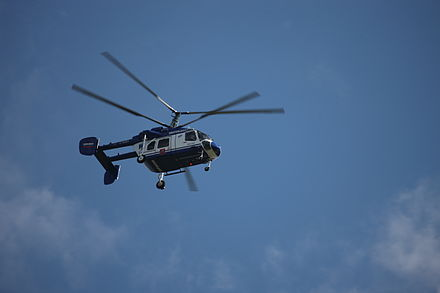 Ka-226 of the Moscow Police Service in flight, 2008 Kamov Ka-226 Sergei.jpg