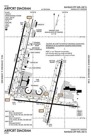 Kansas City International Airport - Airport diagram
