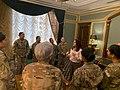 Karen Pence with female troops in Erbil Air Base 01.jpg