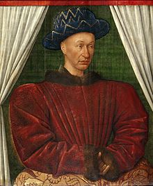 Painting of a man wearing red fur clothing