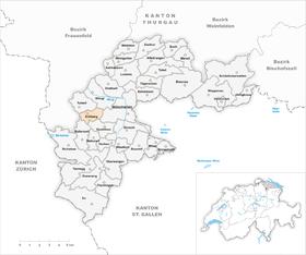 Karte Gemeinde Krillberg 1968