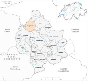 Wintersingen - Image: Karte Gemeinde Wintersingen 2007