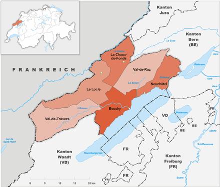 Districts of Switzerland - Wikiwand