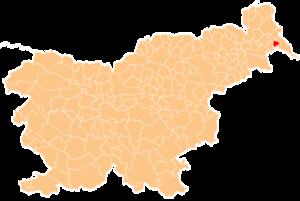 Velika Polana - Image: Karte Velika Polana si