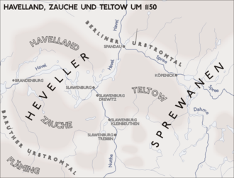 Hevelli - Lands of the Hevelli and Sprevane, about 1150