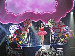 "Teenage Dream (Katy Perry song) - Perry performing ""Teenage Dream"" at the California Dreams Tour"