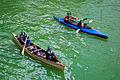 Kayakers and Canoers on St. Patricks day on the Chicago River, 2014.jpg
