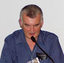 Ken MacLeod talkin at 63rd World Science Feection Convention