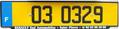 Kerguelen Islands license plate 1993 series rear.png
