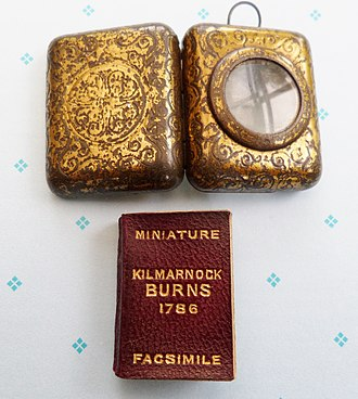 Poems, Chiefly in the Scottish Dialect - The miniature facsimile edition of Robert Burns 1786 volume of poems.