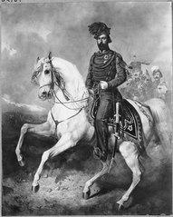 King Charles XV of Sweden on Horseback