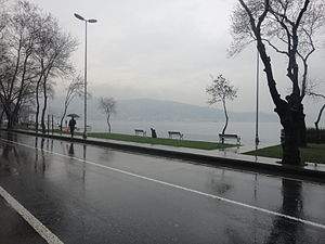 Kireçburnu, Sarıyer - A view from the Bosphorus shore at Kireçburnu.