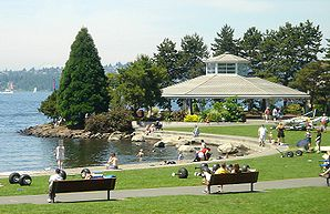 Ufer des Marina Park am Lake Washington in Kirkland