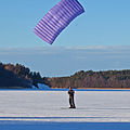 Kite skiing on ice, 29 January 2011 in Broknas, Vaxholm, Stockholm.jpg