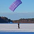 Kite skiing on ice, 29 January 2011 in Broknas, Vaxholm, Stockholm.jpg