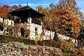 Klagenfurt Tentschacher Strasse Schloss Tentschach Mauer Warte 15102008 75.jpg