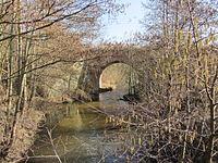 Kluß Wallensteingraben Brücke Bahnstrecke Bad Kleinen-Wismar 2014-02-25 6.JPG