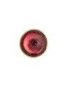 Knapp i guld och bergkristall på röd folie, 1800-tal - Hallwylska museet - 110342.tif