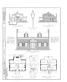 Knowles House, Fourth Street, Oquawka, Henderson County, IL HABS ILL,36-OQUA,2- (sheet 1 of 2).png