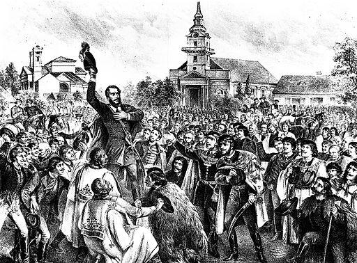Kollarz Kossuth Cegléden 1848