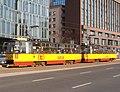 Konstal 105Nf 1426+1425, tram line 18, Warsaw, 2019.jpg
