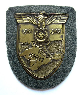 Orders, decorations, and medals of Nazi Germany - Crimea Shield