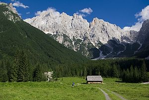 Alpine valley of Krnica near Kranjska Gora, Sl...