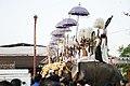 Kudamattam during Pooram - Kuzhur Sree Subramanya Swami Temple.jpg