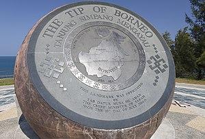 Tanjung Simpang Mengayau - The bronze globe.