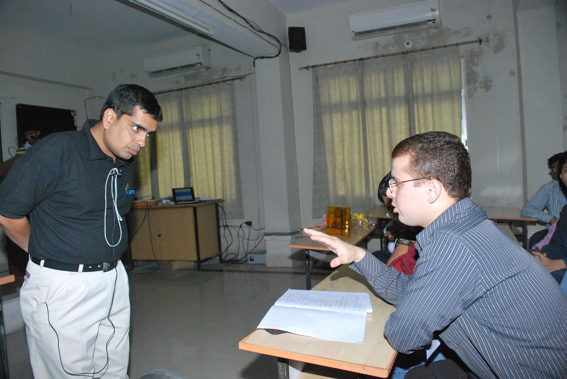 Kumar Padmanabh with Students.jpg