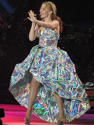 "Confide in Me - Minogue singing ""Confide in Me"" on her Aphrodite: Les Folies Tour, 2011."