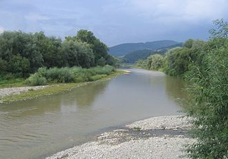 Kysuca - River Kysuca near Kysucké Nové Mesto after short summer storm