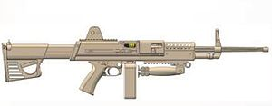 LSAT light machine gun - Image: LSAT LMG concept