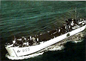 LST-855 underway, date and place unknown