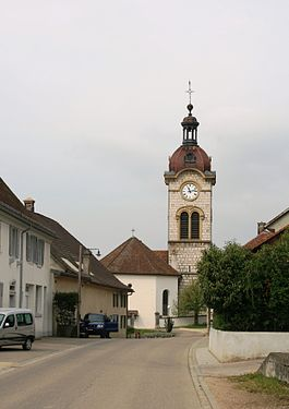 La Baroche - Charmoille village church in La Baroche