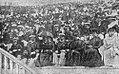 La loge royale pendant les Jeux Intercalaires de 1906 (G. à D. reine d'Angleterre, roi de Grèce, roi d'Angleterre, une dame d'honneur, et Prince de Galles).jpg