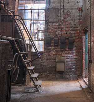Sloss Furnaces - Image: Ladder and window at Sloss Furnaces, image by Marjorie Kaufman