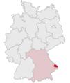 Lage des Landkreises Freyung-Grafenau in Deutschland.png