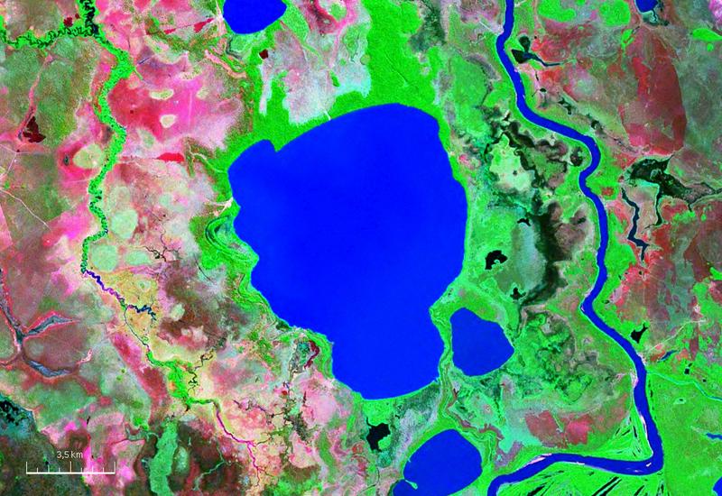 File:Laguna Las Habras Bolivia Satellite map 65.10358W 12.png