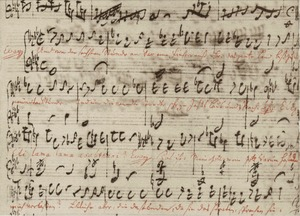 Bach's autograph of the recitative with the gospel text of Christ's death from St Matthew Passion (Matthew 27:45–47a) (Source: Wikimedia)