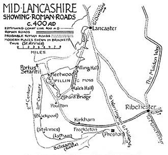 History of Lancashire - Image: Lancashire.AD400